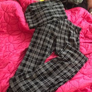 Plaid top and pant set